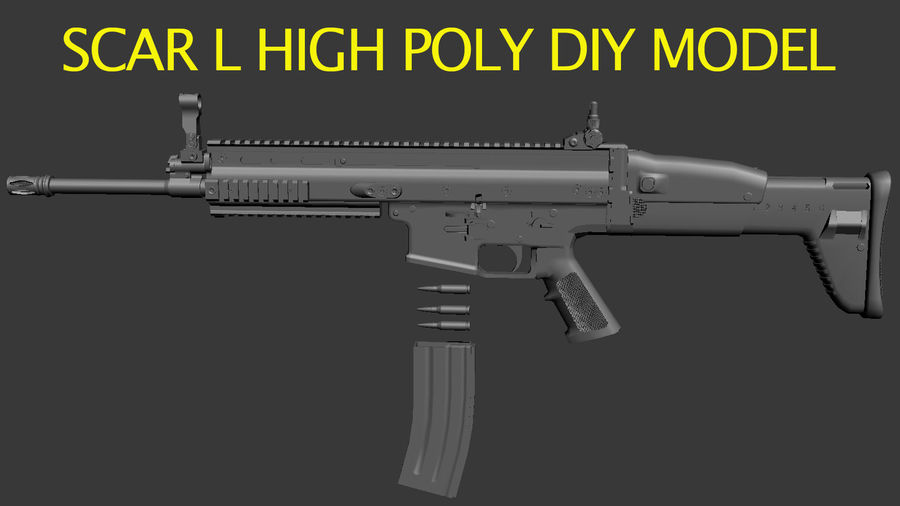 SCAR L DIY kit royalty-free 3d model - Preview no. 9