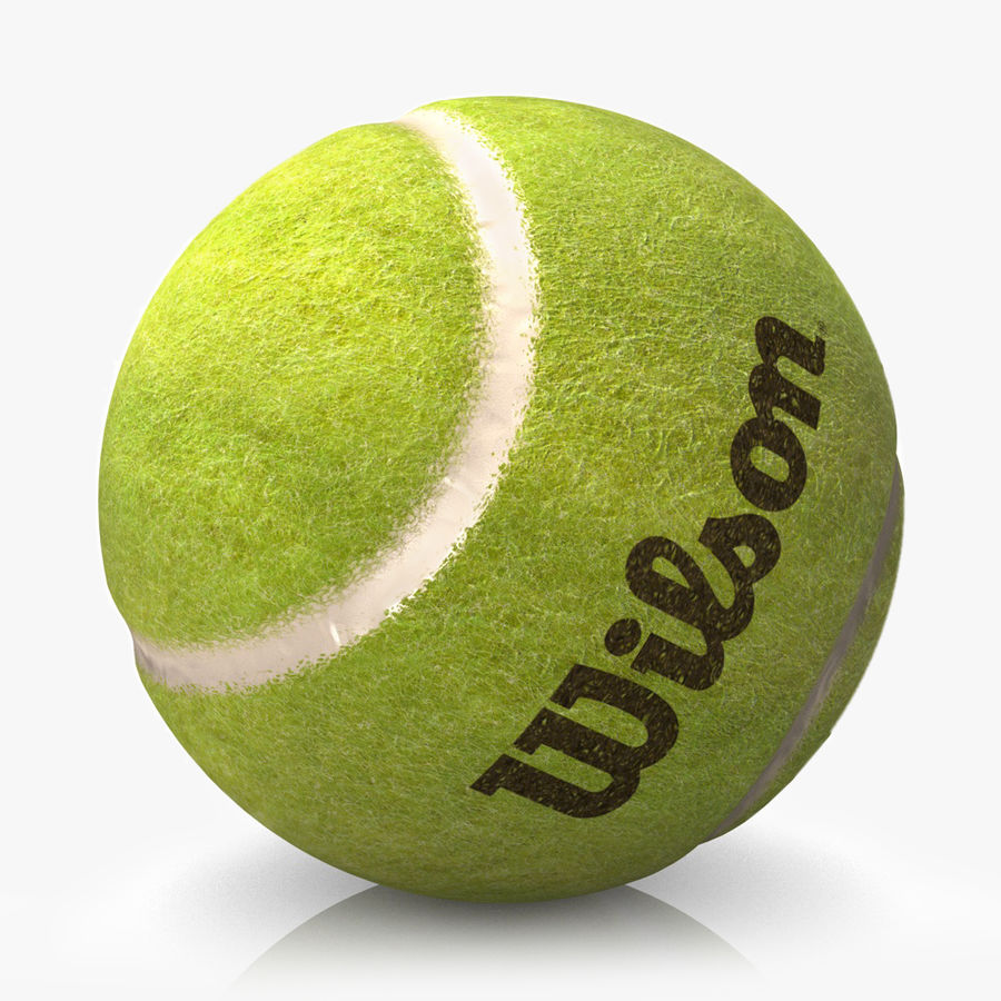 tennis ball royalty-free 3d model - Preview no. 3