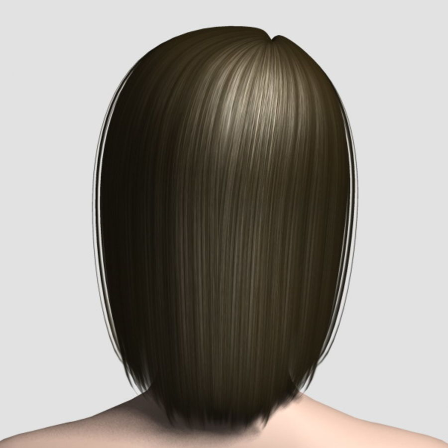 Hair_Mesh_05 royalty-free 3d model - Preview no. 3
