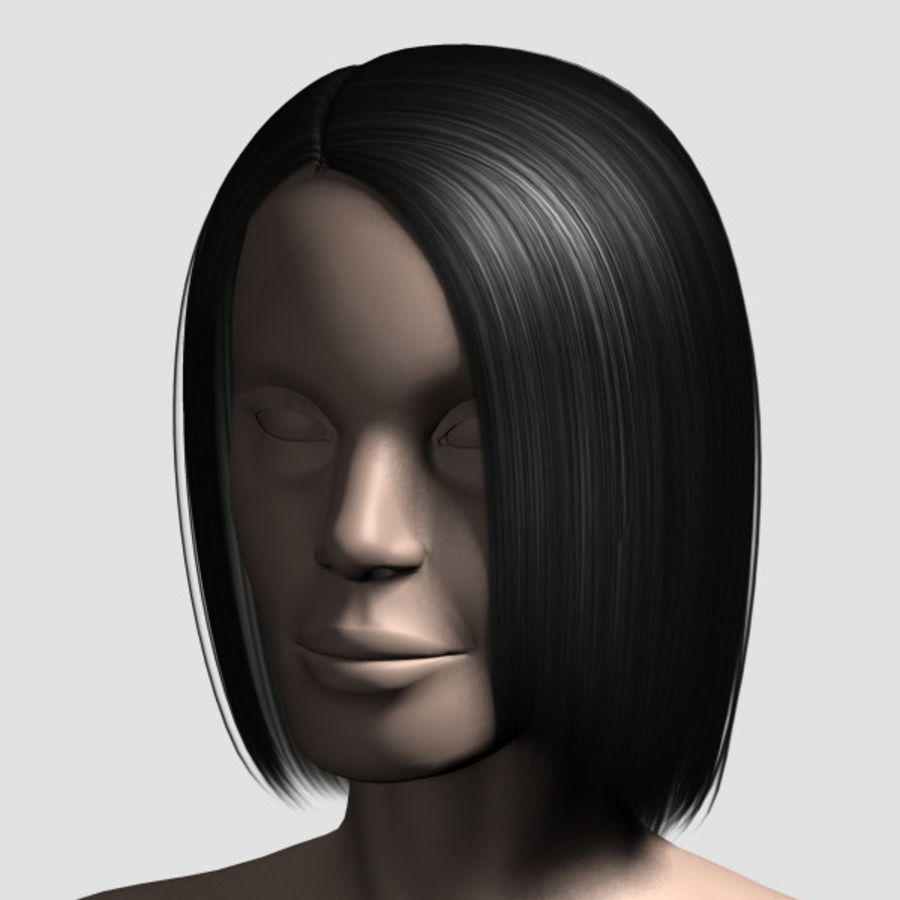 Hair_Mesh_05 royalty-free 3d model - Preview no. 7