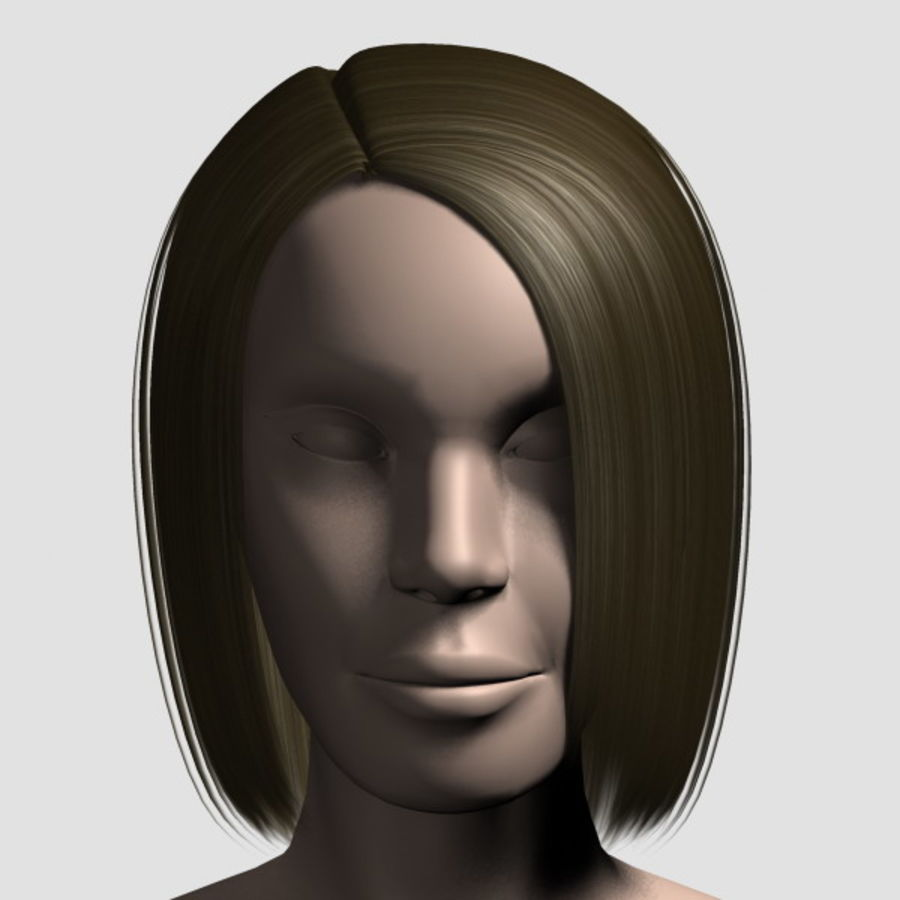Hair_Mesh_05 royalty-free 3d model - Preview no. 5