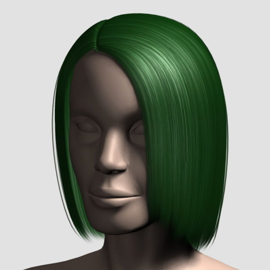 Hair_Mesh_05 royalty-free 3d model - Preview no. 10
