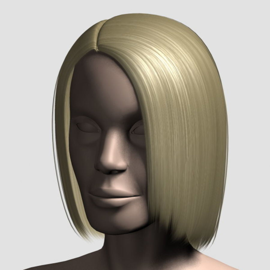 Hair_Mesh_05 royalty-free 3d model - Preview no. 8
