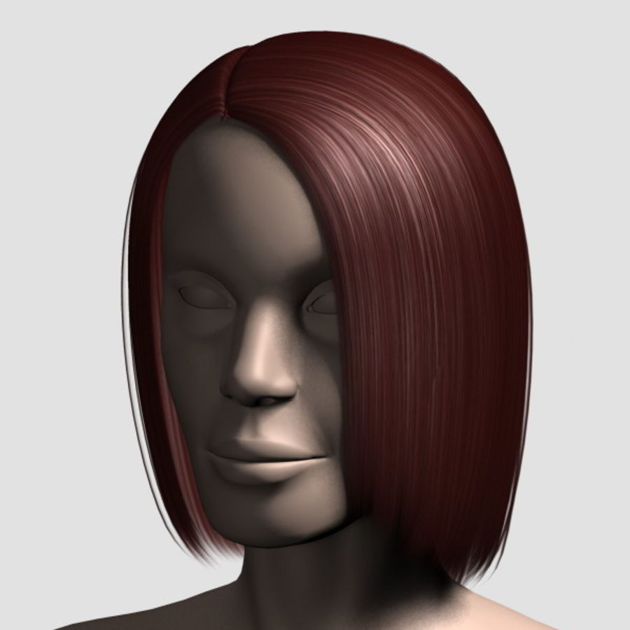 Hair_Mesh_05 royalty-free 3d model - Preview no. 12