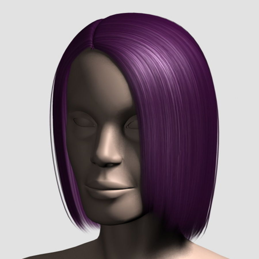 Hair_Mesh_05 royalty-free 3d model - Preview no. 11