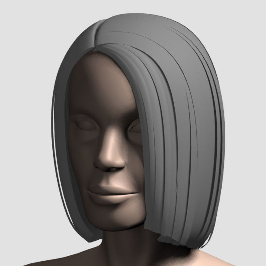 Hair_Mesh_05 royalty-free 3d model - Preview no. 14