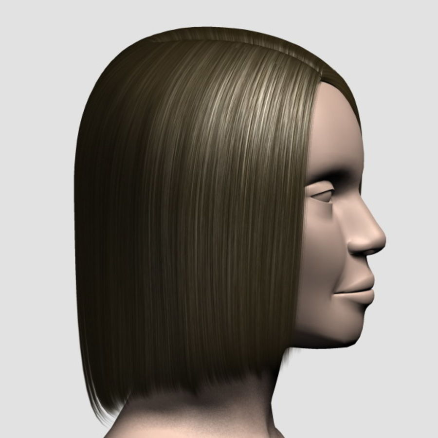 Hair_Mesh_05 royalty-free 3d model - Preview no. 4