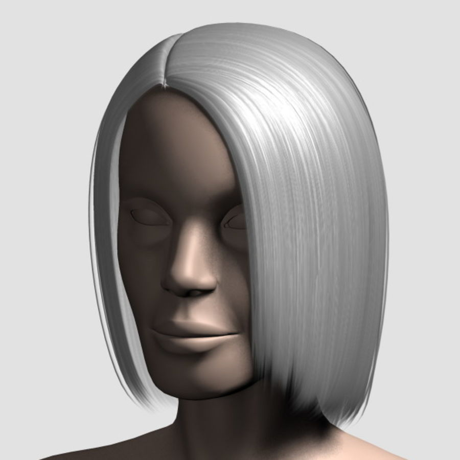 Hair_Mesh_05 royalty-free 3d model - Preview no. 13