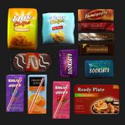 snacks 3d model