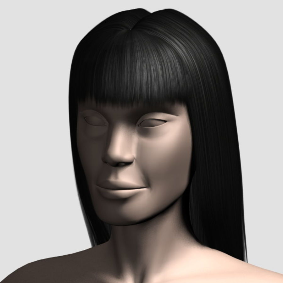 Hair_Mesh_03 royalty-free 3d model - Preview no. 7