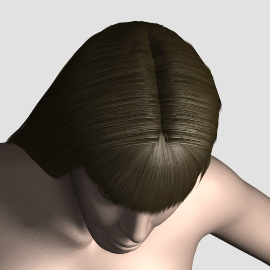 Hair_Mesh_03 royalty-free 3d model - Preview no. 6