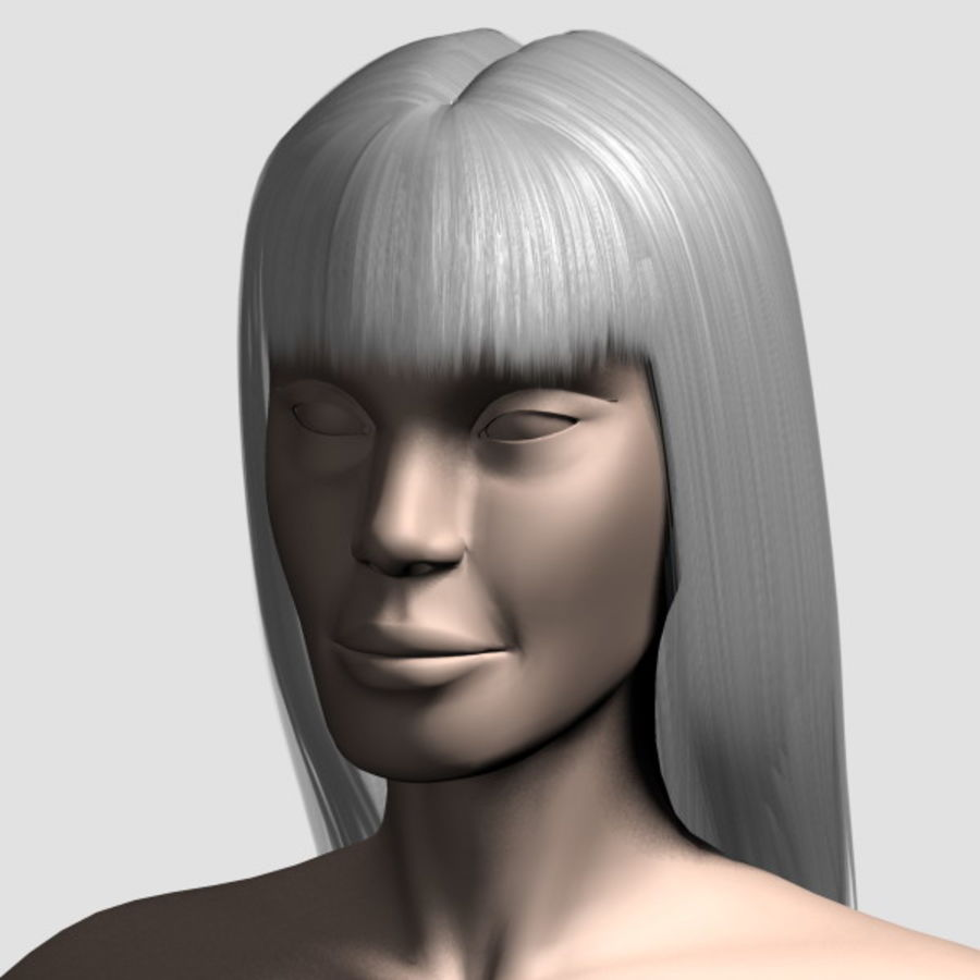Hair_Mesh_03 royalty-free 3d model - Preview no. 13