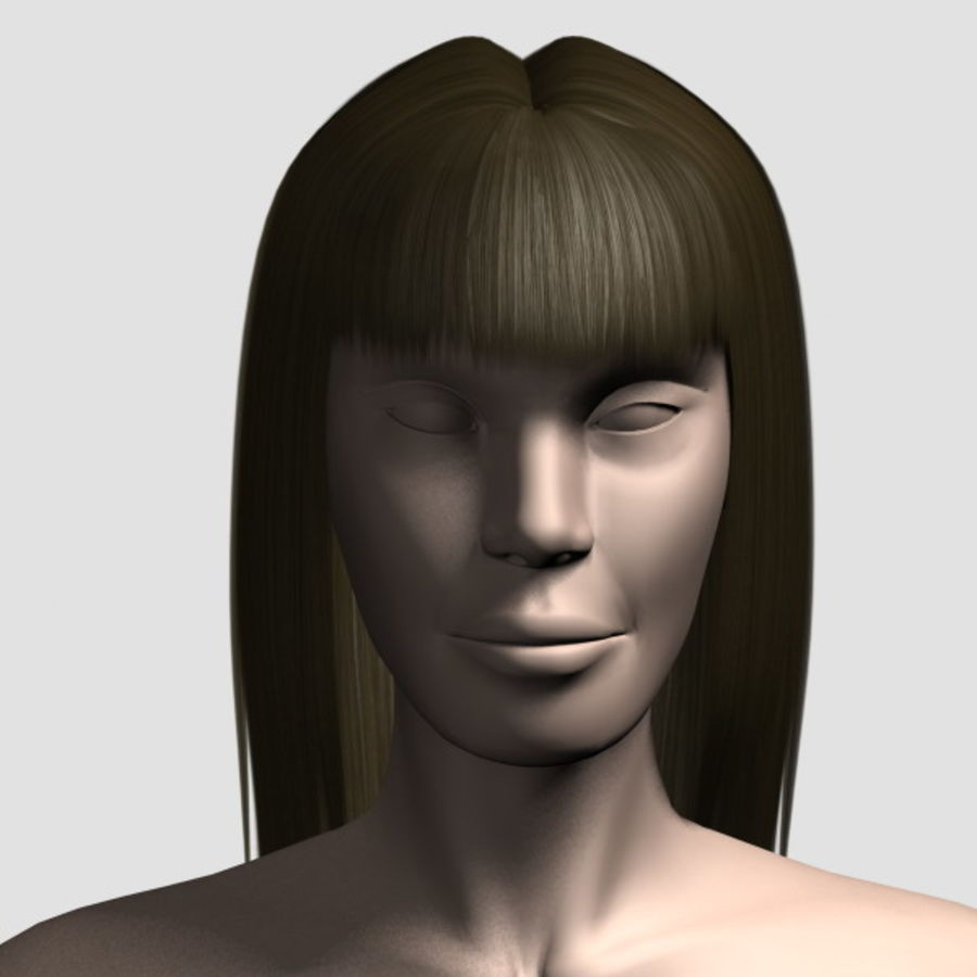 Hair_Mesh_03 royalty-free 3d model - Preview no. 5