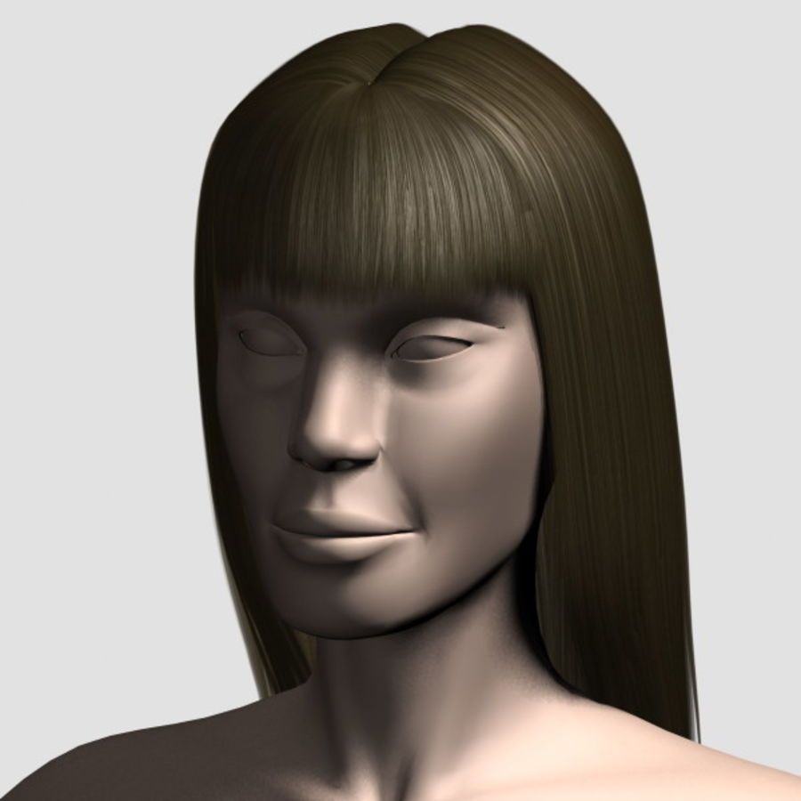 Hair_Mesh_03 royalty-free 3d model - Preview no. 1