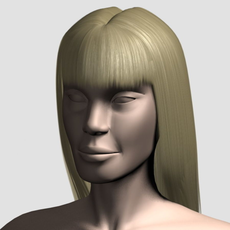 Hair_Mesh_03 royalty-free 3d model - Preview no. 8
