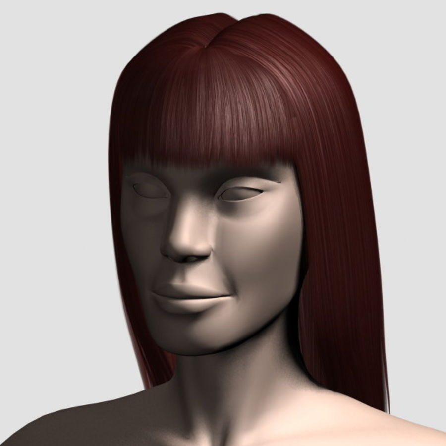 Hair_Mesh_03 royalty-free 3d model - Preview no. 12