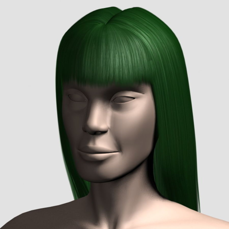 Hair_Mesh_03 royalty-free 3d model - Preview no. 10