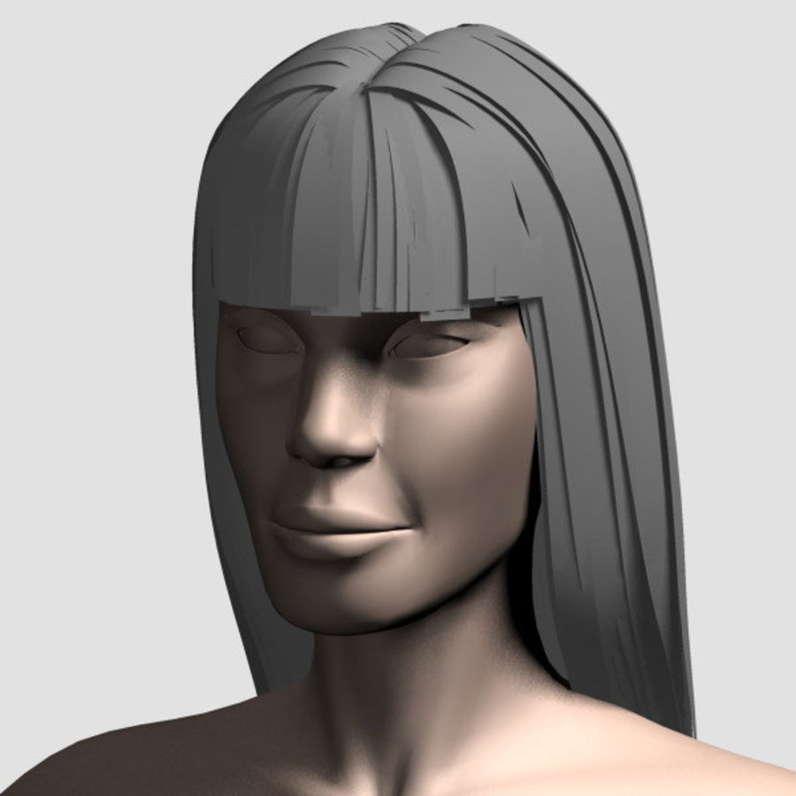 Hair_Mesh_03 royalty-free 3d model - Preview no. 14