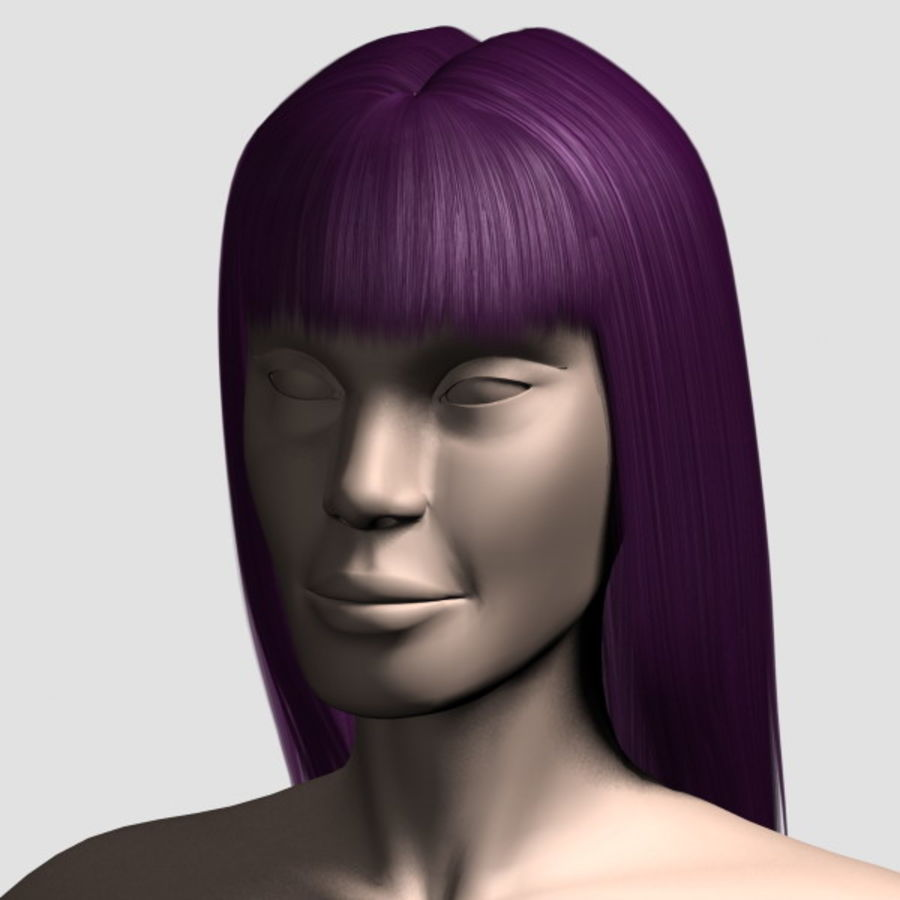 Hair_Mesh_03 royalty-free 3d model - Preview no. 11