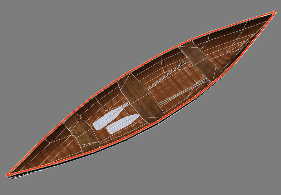 Wooden boats royalty-free 3d model - Preview no. 5
