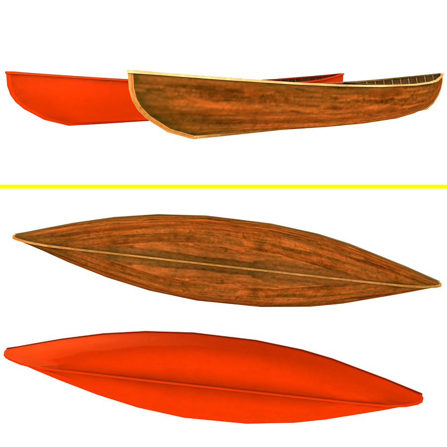 Wooden boats royalty-free 3d model - Preview no. 3