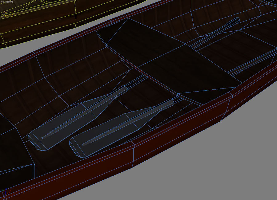 Wooden boats royalty-free 3d model - Preview no. 7