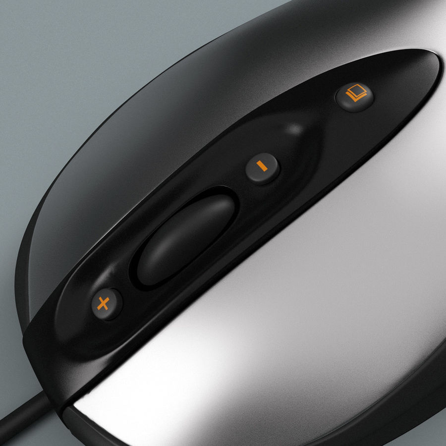 Logitech Optical Mouse royalty-free 3d model - Preview no. 8