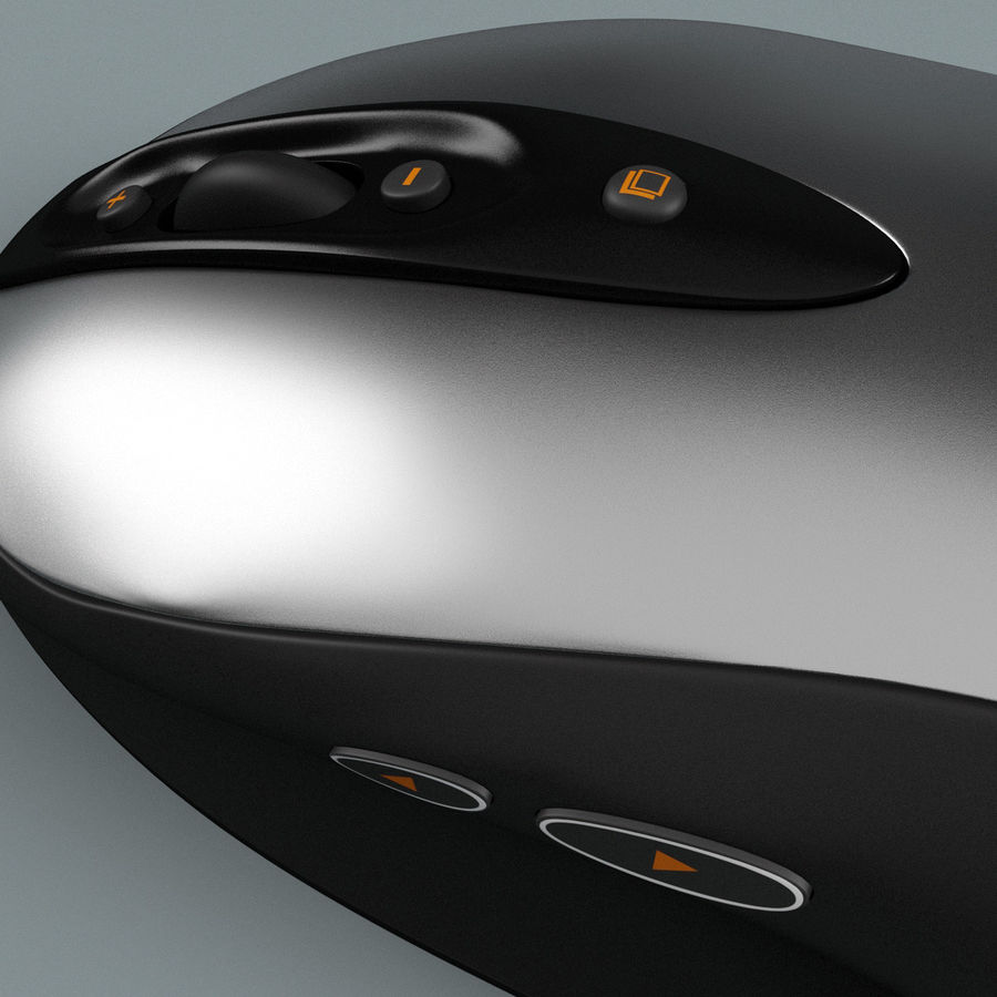 Logitech Optical Mouse royalty-free 3d model - Preview no. 9