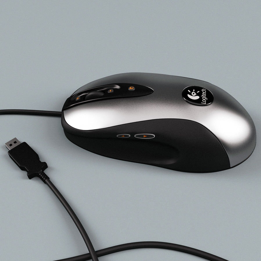 Logitech Optical Mouse royalty-free 3d model - Preview no. 5