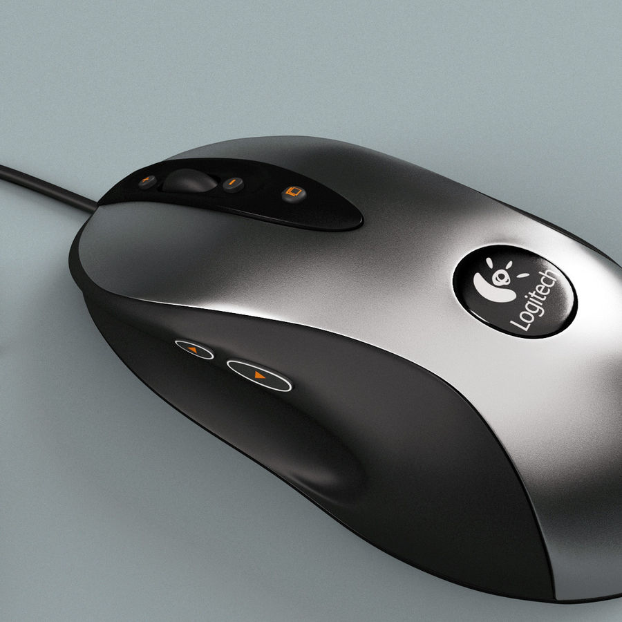 Logitech Optical Mouse royalty-free 3d model - Preview no. 6