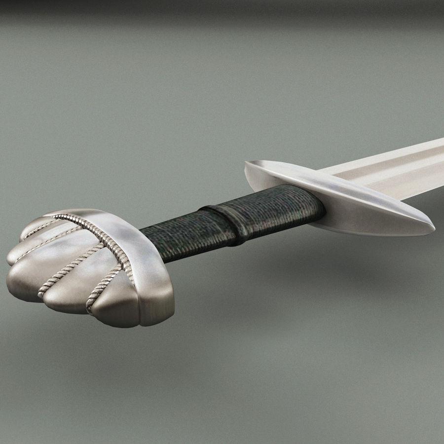 Viking Sword V4 royalty-free 3d model - Preview no. 7