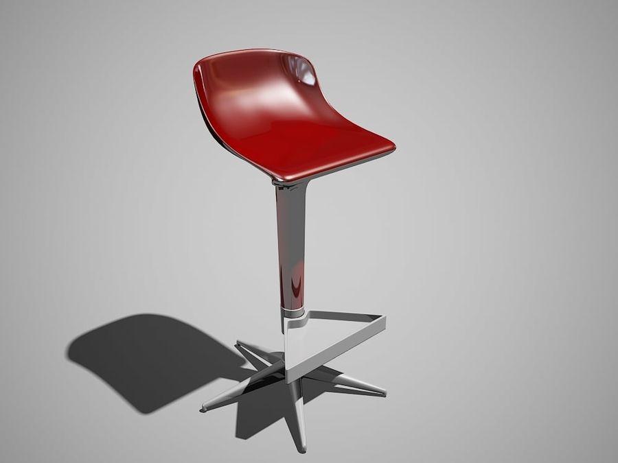 Kartell spoon bar chair modello d obj ds dwg max free d