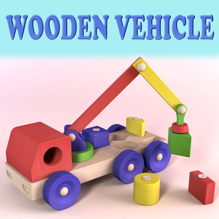 Wooden Vehicle royalty-free 3d model - Preview no. 1