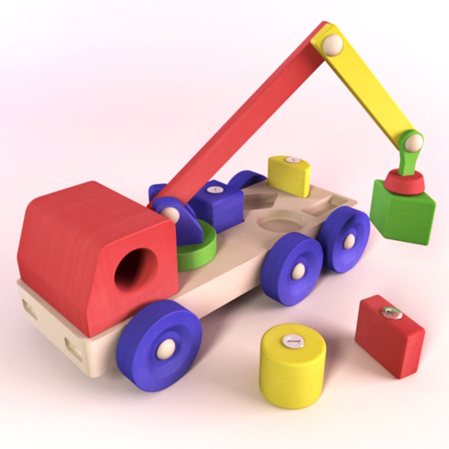 Wooden Vehicle royalty-free 3d model - Preview no. 3