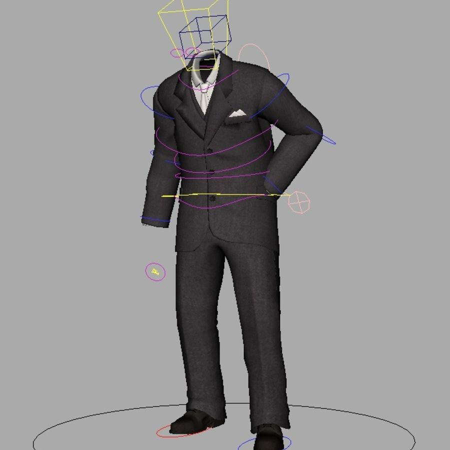 suit royalty-free 3d model - Preview no. 22