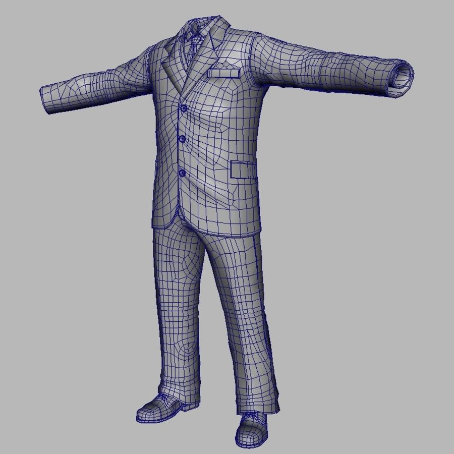 suit royalty-free 3d model - Preview no. 15
