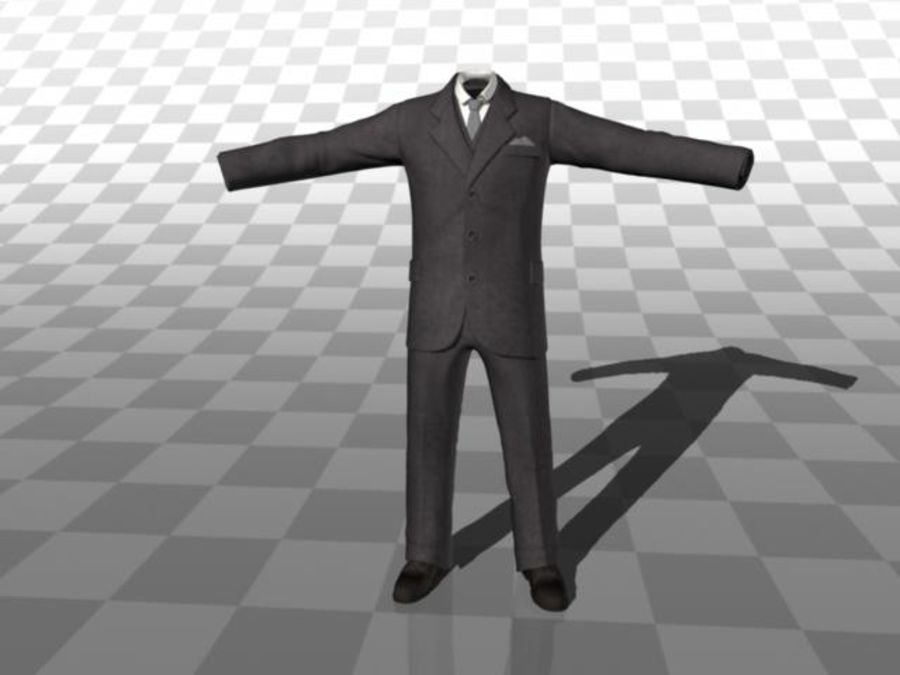 suit royalty-free 3d model - Preview no. 2