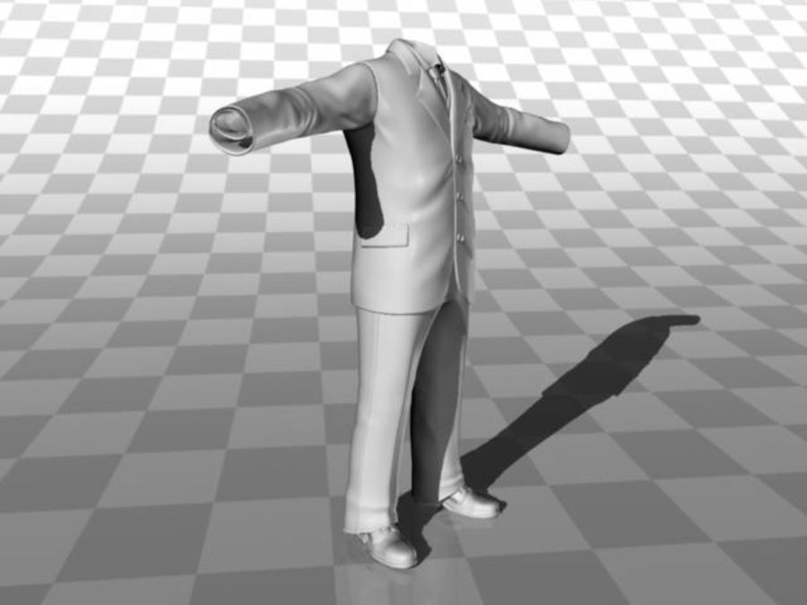 suit royalty-free 3d model - Preview no. 12
