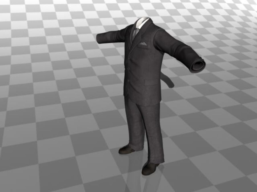 suit royalty-free 3d model - Preview no. 6