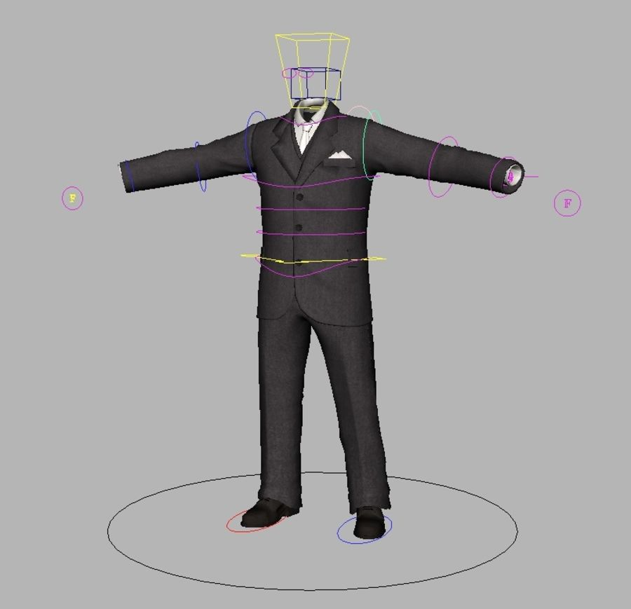 suit royalty-free 3d model - Preview no. 19