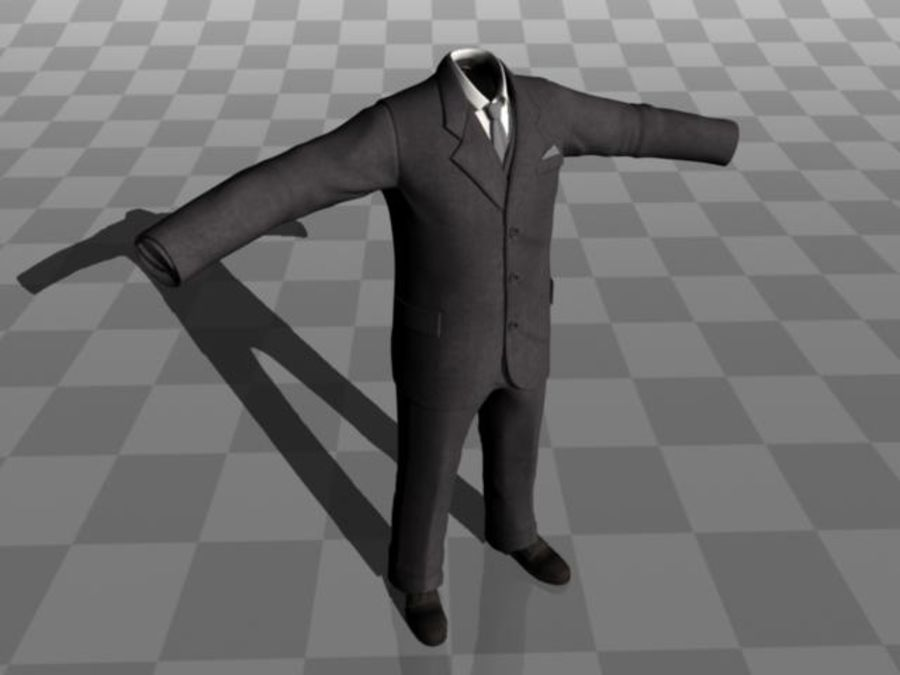 suit royalty-free 3d model - Preview no. 8