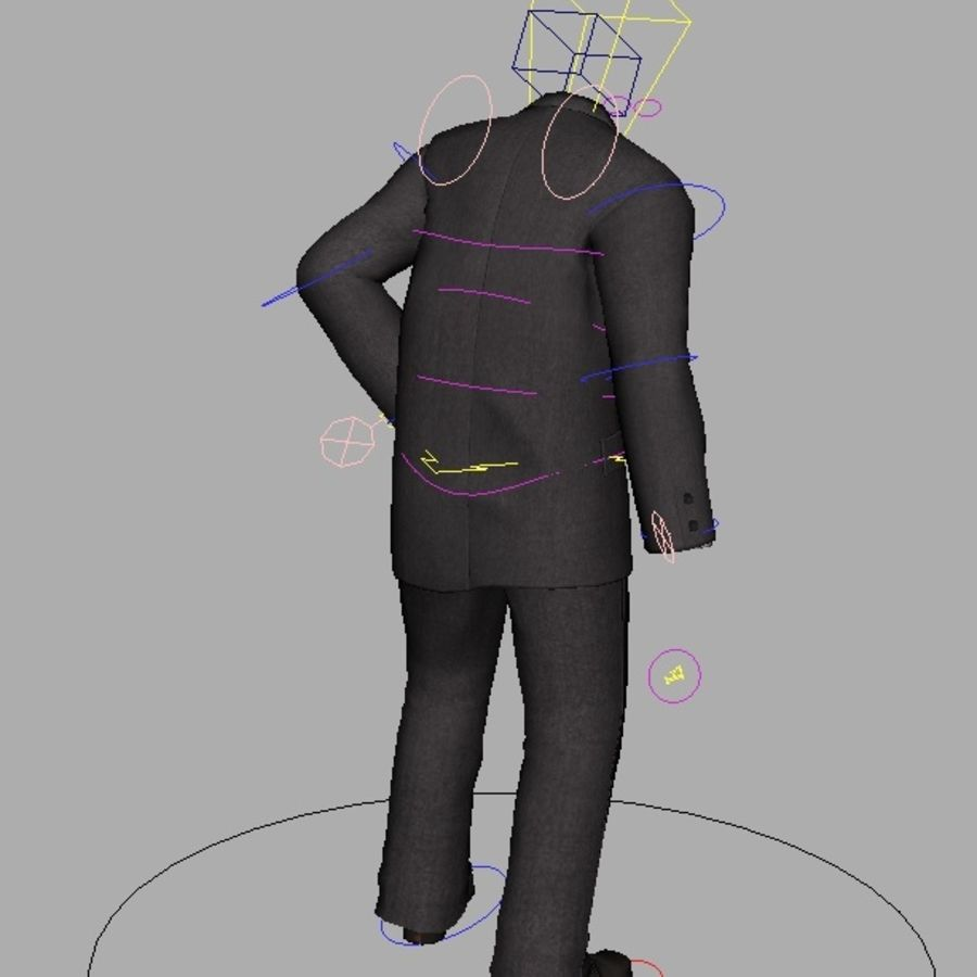 suit royalty-free 3d model - Preview no. 23