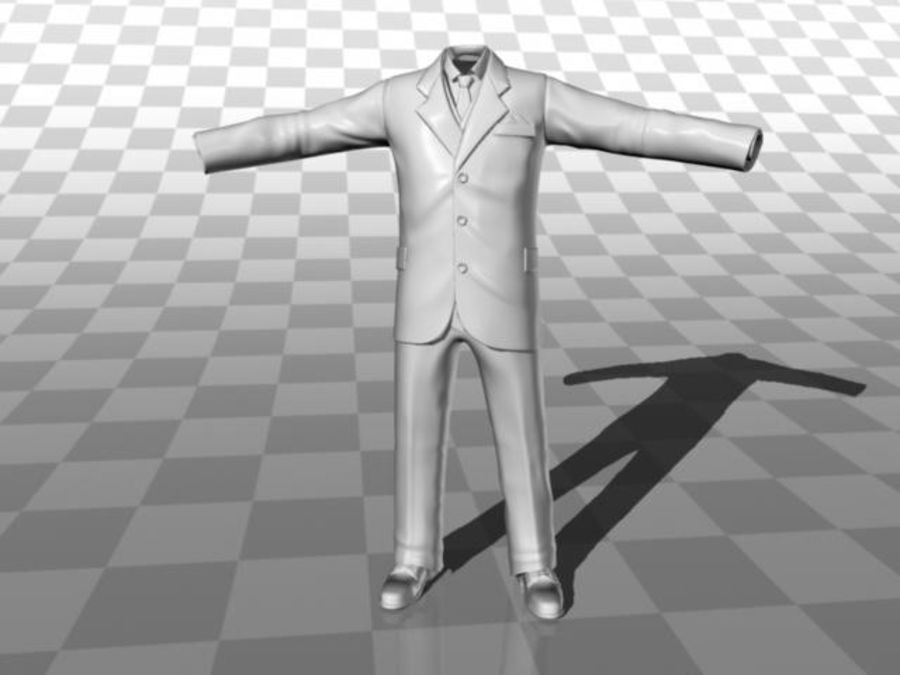 suit royalty-free 3d model - Preview no. 9