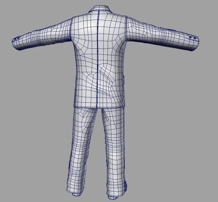 suit royalty-free 3d model - Preview no. 14
