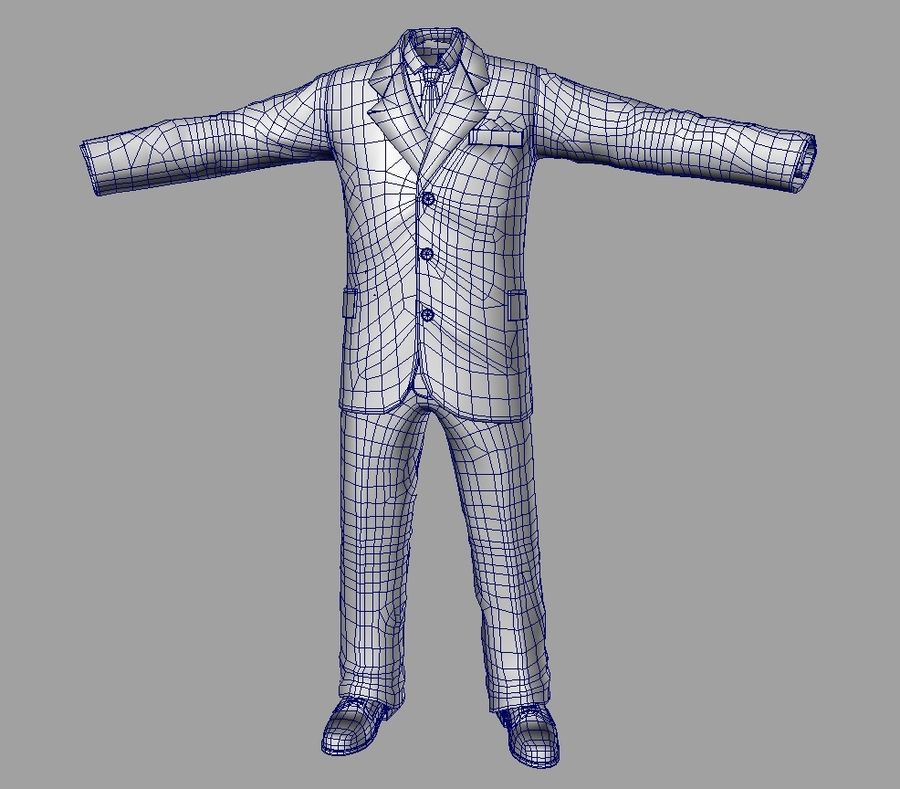 suit royalty-free 3d model - Preview no. 13