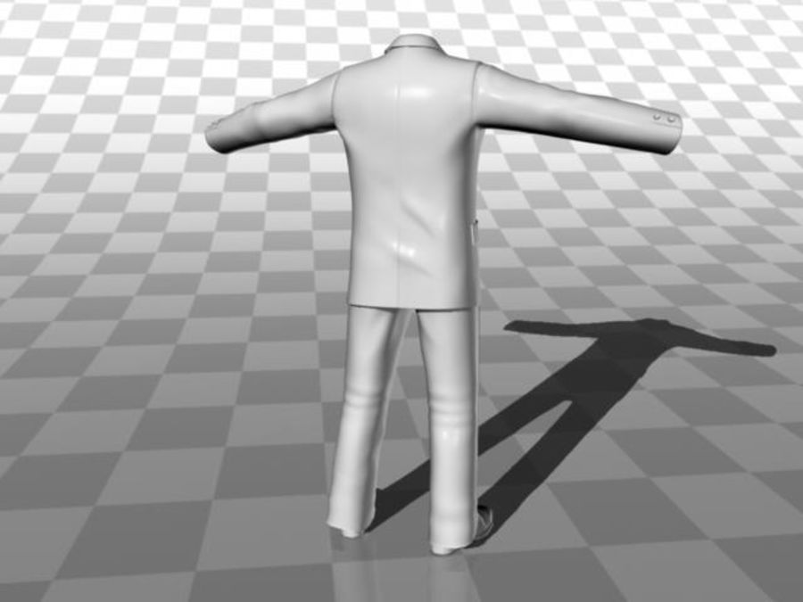 suit royalty-free 3d model - Preview no. 11