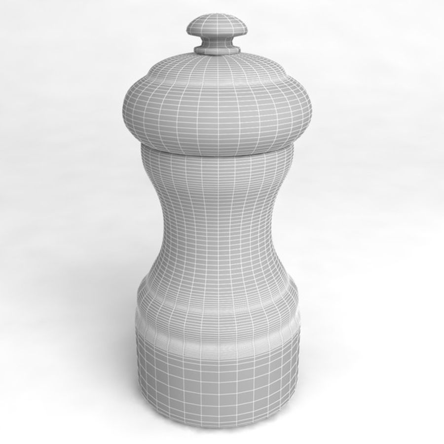 Pepper Shaker_01 royalty-free 3d model - Preview no. 5