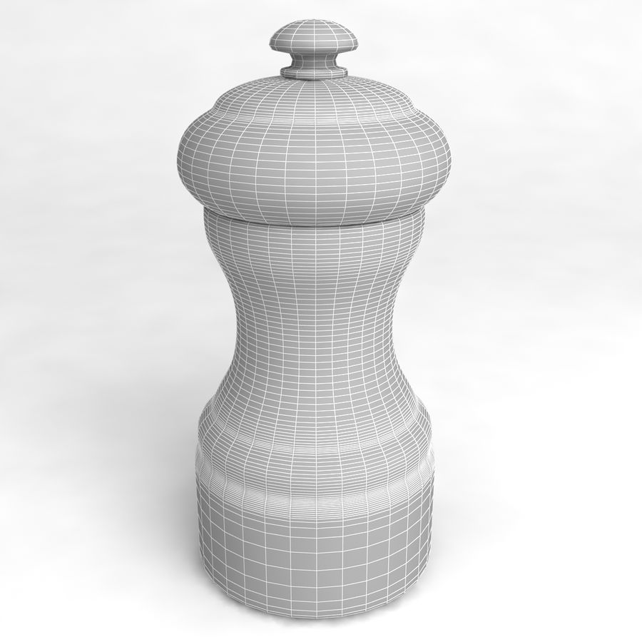 Pepper Shaker_01 royalty-free 3d model - Preview no. 4