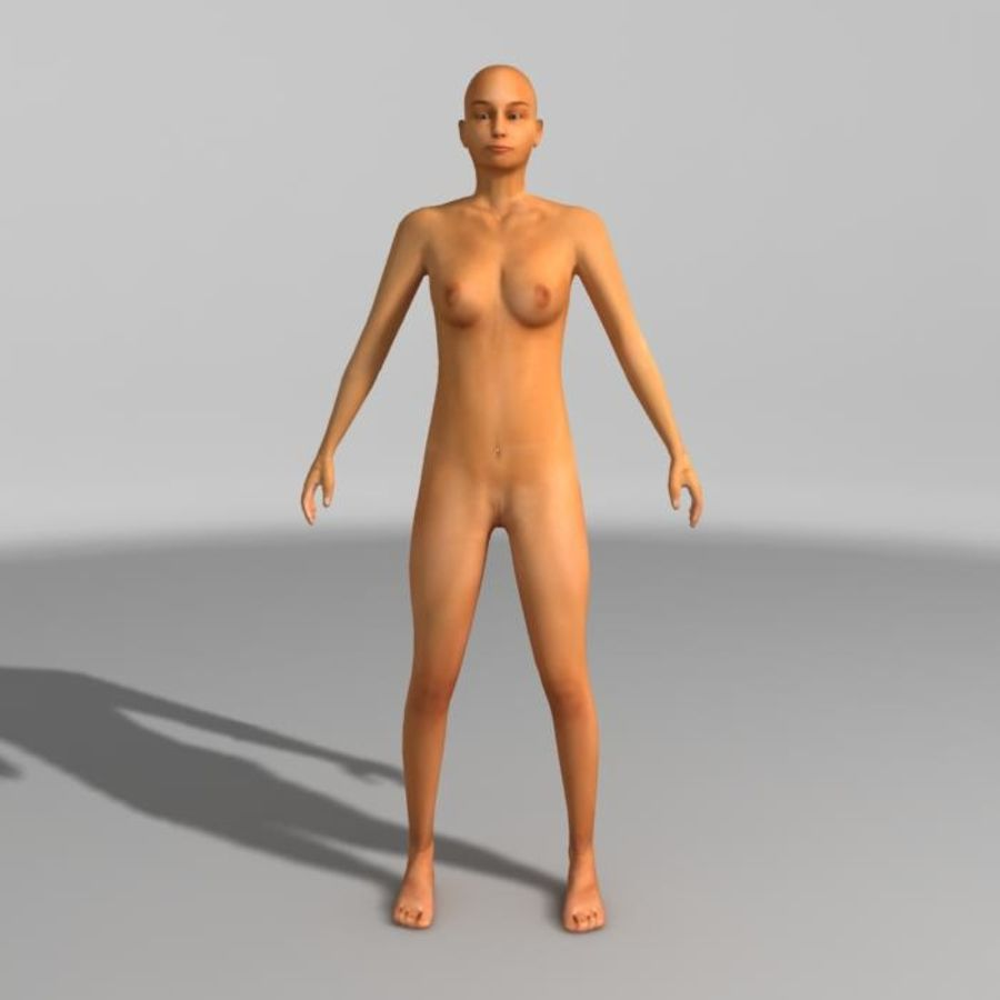 Femme nue royalty-free 3d model - Preview no. 3