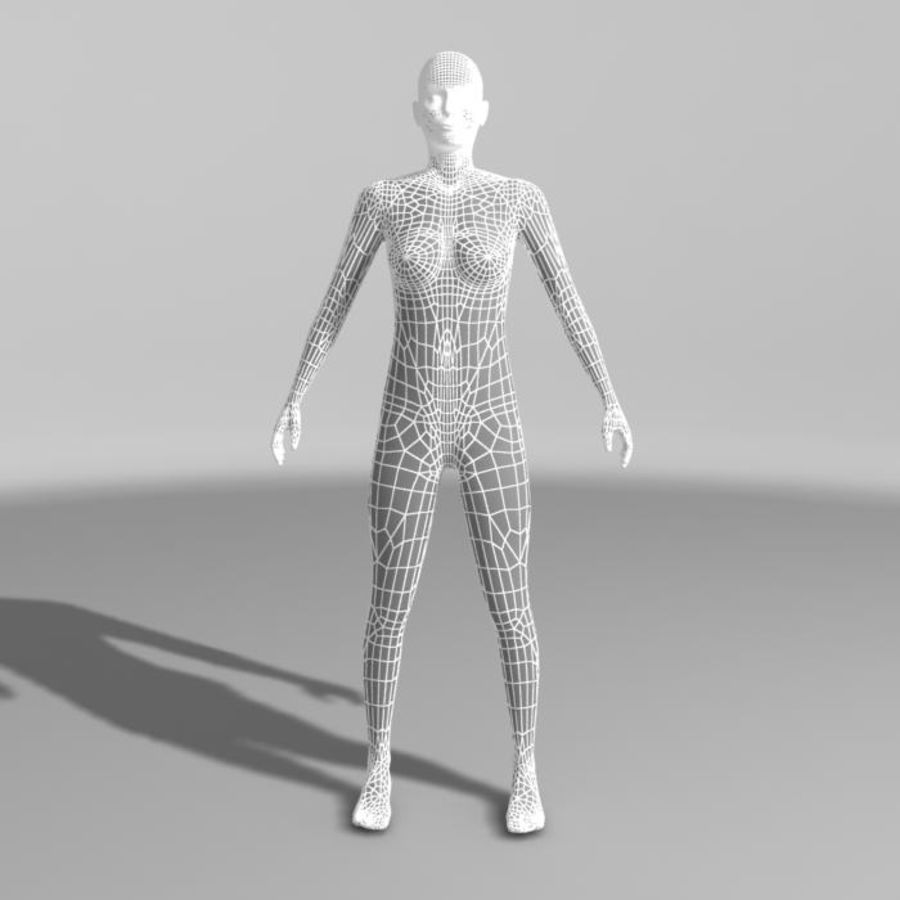 Femme nue royalty-free 3d model - Preview no. 5